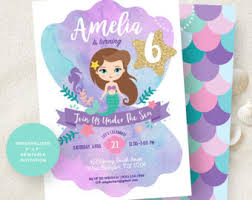mermaid birthday banner printable mermaid party decoration