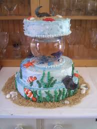 Betta Fish Decorations Betta Fish Birthday Cake Cakes Pinterest Fish Birthday Cakes