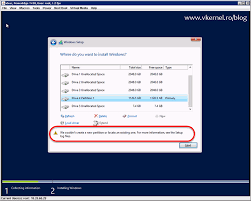install windows 10 esxi 5 5 we couldn t create a new partition or locate an existing one for