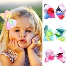kids hair accessories 12cm hair bow rainbow bows accessories