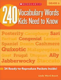 240 vocabulary words kids need to know grade 6 24 ready to