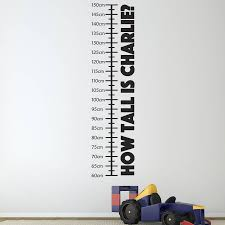 personalised childrens height chart height chart wall sticker are you interested in our personalised wall sticker with our children height chart you need
