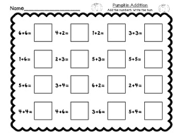 free pumpkin bump math center game and printable tpt