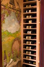 easy home dead spot decoration with horizontal wine rack designs