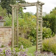 forest garden berkley arch trellis side panels square top garden arch
