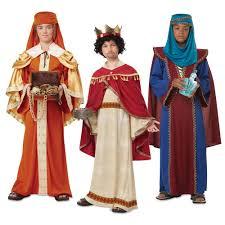 nativity costumes kids three wisemen kings christmas fancy dress