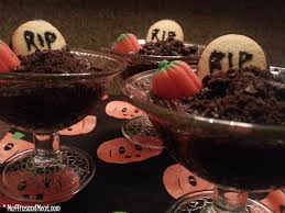 graveyard pudding cups muffinsandmeat