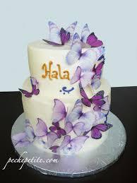 custom butterfly cakes peche petite