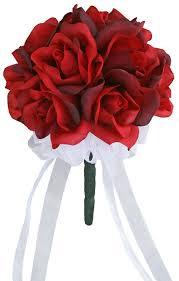 silk roses silk toss bouquet silk wedding toss bouquet
