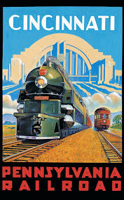 Pennsylvania travel posters images Pennsylvania railroad i ride the harlem line jpg