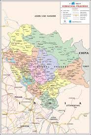 himachal pradesh travel map himachal pradesh state map with