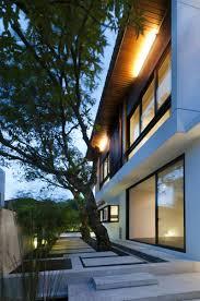 architecture attracting hijauan house terrace design concrete