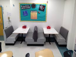 classroom seating diner booths use for computer during station