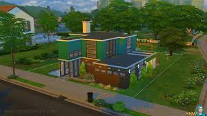 mid century modern house in the sims 4 snw simsnetwork com