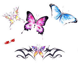 amazing butterflies temporary designs by gomapunk