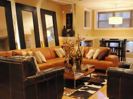 Orange And Brown Living Room Home Design Ideas - Orange living room decorating ideas