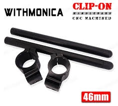 46mm cnc clip on handlebar for kawasaki ninja zx6r zx9r 1998 1999