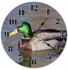 duck home decor 10 5 swimming mallard duck clock large 10 5 wall clock home
