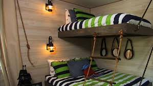 DIY Suspended Bunk Beds Knock It Off The Live Well Network - Suspended bunk beds