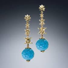 pagoda earrings the facing east collection christopher duquet jewelry