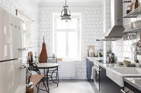 vintage modern kitchen vintage modern the use of darker shade in a white interior