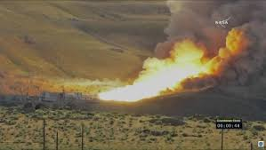 Wildfire Test Questions by Massive Solid Rocket Booster Fired For Final Ground Test Before