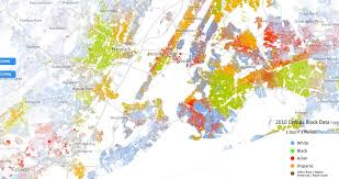 detailed map of new york incredibly detailed map shows race segregation across america in