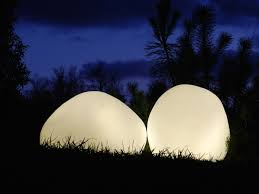 olis rock like led lamp adds a sublime glow to indoor and outdoor