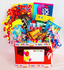 candy gift baskets happy birthday candy gift box