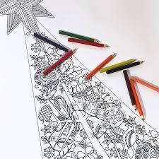 festive zen giant colour in christmas tree poster by little