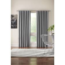 home decorators collection semi opaque gray room darkening back
