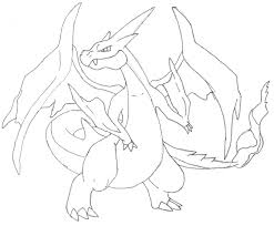pokemon coloring pages mega charizard learn language