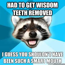 Wisdom Teeth Meme - had to get wisdom teeth removed i guess you shouldn t have been such