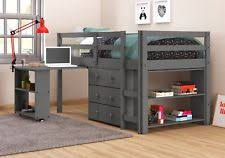 Metal Bunk Bed With Desk Underneath Loft Bed With Desk Ebay