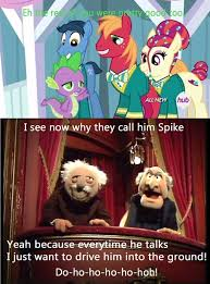 Waldorf And Statler Meme - they re always on my little pony friendship is magic know