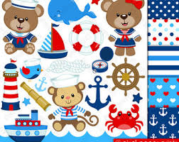 nautical wrapping paper teddy clipart nautical pencil and in color teddy clipart nautical