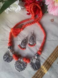 indian metal necklace images 14 best oxidized metal jewelry thread wrapped dori necklace images jpg
