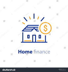 real estate financial concept house finance stock vector 675584218