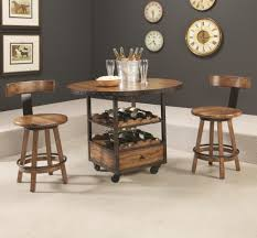 Home Bar Table Americana Home High Dining Table With Wine And Bottle Storage By