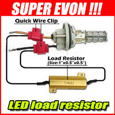 load resistors for led lights 2 x led load resistors for turn signal fog running lights automo
