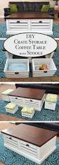 Diy Storage Coffee Table by 19 Creative Diy Wood Crate Project Ideas How To Repurpose Old