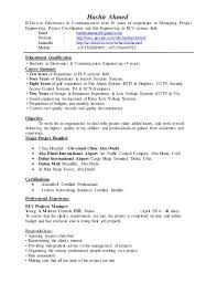 Resume Of Manager Project Manager by Elv Project Manager Cv