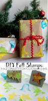 diy felt stamps make your own wrapping paper christmas