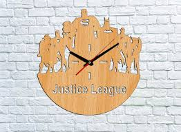 justice league wall clock wood clock ideas for kids gift
