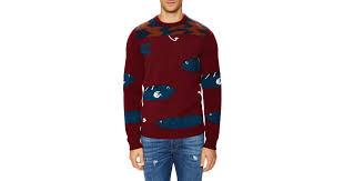 fish sweater lyst ferragamo intarsia fish sweater in for