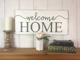 Welcome Home Decor Welcome Home Sign Rustic Wood Sign Home Sweet Home