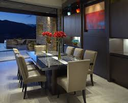 contempory wood slab dining table dining room modern with art contemporary