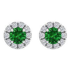 push back earrings jewelry vault designer emerald cz stud earrings push