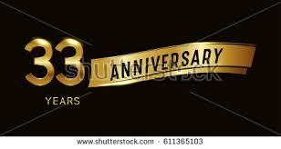 33 years anniversary celebration design template stock vector