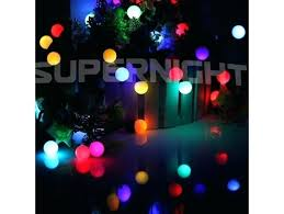 color changing solar string lights colored globe string lights waterproof color changing ball led 10